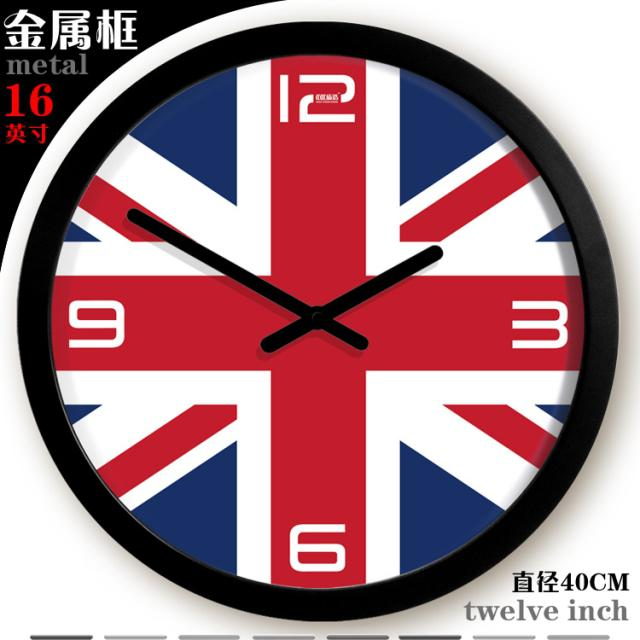 british flag large office wall clock fashion large digital wall
