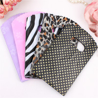 Wholesale Plastic Earring Bags - 500pcs 9X15cm Jewelry Pouches Gifts Bags Candy Dot Spot Strips Plastic Handbag Necklace Earring Packaging Organza Bag Free Shipping