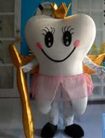 vestindo traje de mascote venda por atacado-com um mini ventilador dentro da cabeça WR210 adulto dente mascote traje para adulto para usar