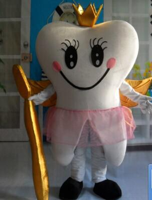 с одним мини-вентилятором внутри головы костюм талисмана взрослого зуба WR210 для взрослых носить