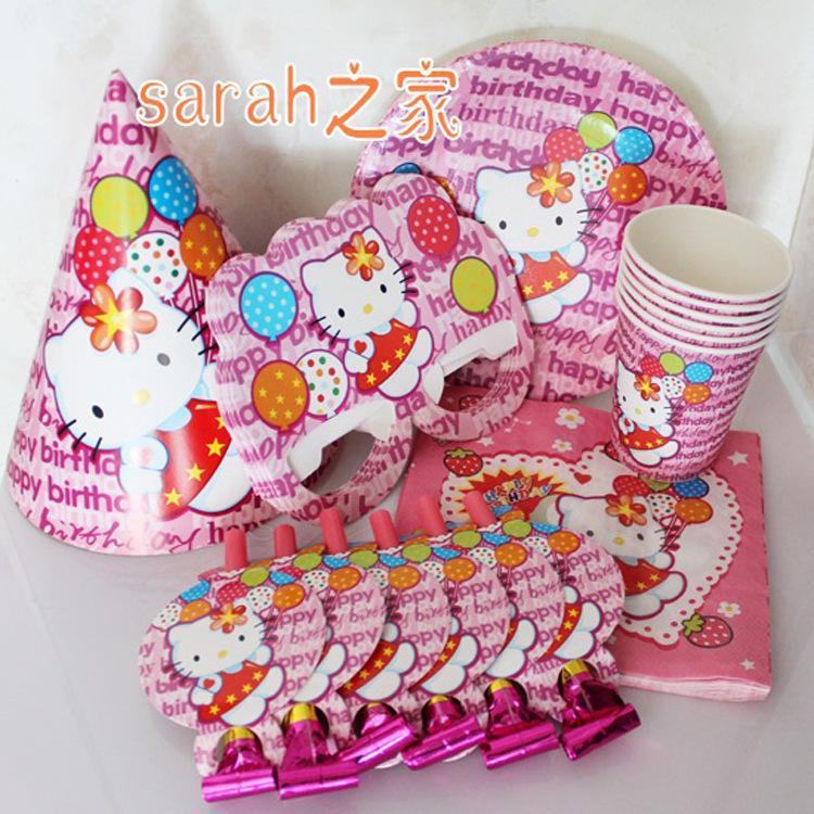 Großhandel Hello Kitty Kinder Geburtstag Party Dekoration Kinder ...