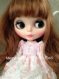 Wholesale Change Hair - Wholesale-Brown Hair Nude Blythe Doll DIY Changed For Girls Gift
