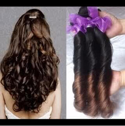 Wholesale Indian Spring Curly Hair - New Spring Look In Autumn!!!Brazilian Peruvian Indian Malaysian Virgin Human Hair Extensions Loose Curly Spring Curl Fumni Curl Spanish Curl