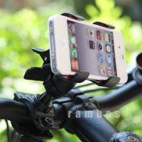 Wholesale Cheap Handlebars Bikes - Cheap Motorcycle Bicycle Bike Smart Phone GPS Mount Handlebar Holder for Samsung for iphone suporte para bike