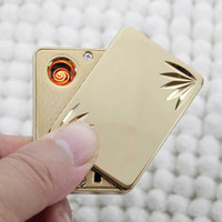 Wholesale Electronic Rechargeable Usb Power Flameless - Wholesale - Electronic USB Rechargeable Lighter Luxury Skull Style Cigar Cigarette Flameless Lighter Lr LED Power Indicator hot selling L605