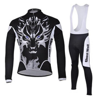 Wholesale Ghost Cycling Jersey - Pro Team Cheji Cycling Jersey Set Wicking Moisture Long Sleeve Anti Pilling Bike Clothes Latest Ghost Wolf Shirt and Pants