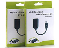 Wholesale Connect Retail - Mobile phone OTG connect kit packaging box with hook retail empty packaging box 50pcs lot Singapore post free.