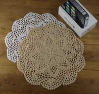 Wholesale Ordering Bamboo Cotton Wholesale - Crochet Doilies Placemats Coaster - wedding decorations - 25cm Made to Order -10PCS LOT