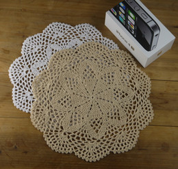 $enCountryForm.capitalKeyWord Canada - Crochet Doilies Placemats Coaster - wedding decorations - 25cm Made to Order -10PCS LOT