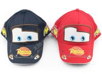 Wholesale Pixar Cars Free Shipping - Pixar cars Pixar car Hat Kid Child Hats Baseball cap free shipping red and blue Free Shipping