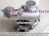Wholesale Turbocharger For Hyundai - GTB1649V 757886 757886-0003 28231-27400 Turbo Turbocharger For HYUNDAI Tucson Sonata Santa Fe For KIA Magentis Sportage II Carens D4EA 2.0L