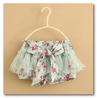 Wholesale Wholesalers Sell Girls Clothing - Hot sell girls floral shorts children's clothing girls gauze shorts child floral shorts kids culottes tutu shorts 2968