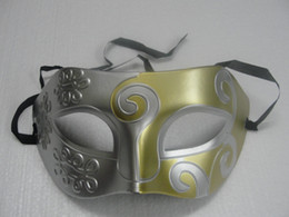 Wholesale Cartoon Masks For Sale - 2014 hot sales Mens Carving flower Mask Halloween Masquerade Masks Venetian Dance party Mask Men mask 20pcs lot