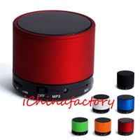 Wholesale Bluetooth Compact - HOT! S10 Mini Wireless Stereo Bluetooth Speaker Metal Compact Bluetooth V3.0 Mini Speakers Speakerphone for iPhone Samsung   PC with no logo