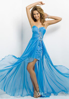 Wholesale Size 24 Evening Gowns - 2014 Sexy Sheath Formal Chiffon Strapless Beaded Prom Dresses Beaded Evening Party Dress Gown vestido de festa Custom Made Size 2-24