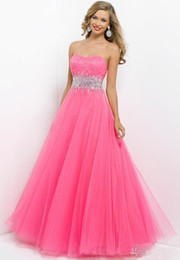 Wholesale Size 24 Evening Gowns - 2014 Sexy A Line Quinceanera Dresses Formal Beaded Prom Dresses Beaded Evening Party Dress Gown vestido de festa Custom Made Size 2-24