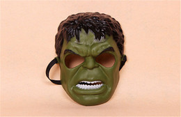 Wholesale Hulk Masks - Wholesale -2016 new Plastic Hulk Masks The Avengers Mask Cartoon Masquerade Mask For Christmas free shipping