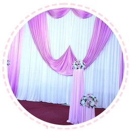 Wholesale Polyester Backdrop - 3m*6m Fabric Satin Curtain Wedding Decoration Backdrop Marriage Party Orangement Curtain Superior Quality Background Wall wd603