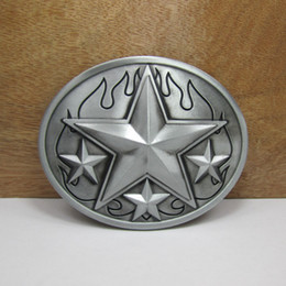 Star Belts Australia - BuckleHome star belt buckle flame belt buckle with pewter plating FP-02888 free shipping