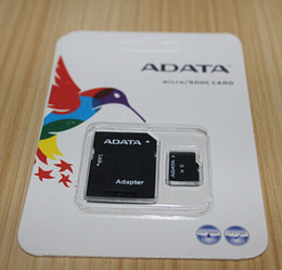 Wholesale Sd Card Blister Packaging - 2016 New Arrival ADATA branded 32GB 64GB Micro SD Card SDHC Class10 TF Card Micro SD Card+ SD Adapter with Blister Package 1 Day Dispatch
