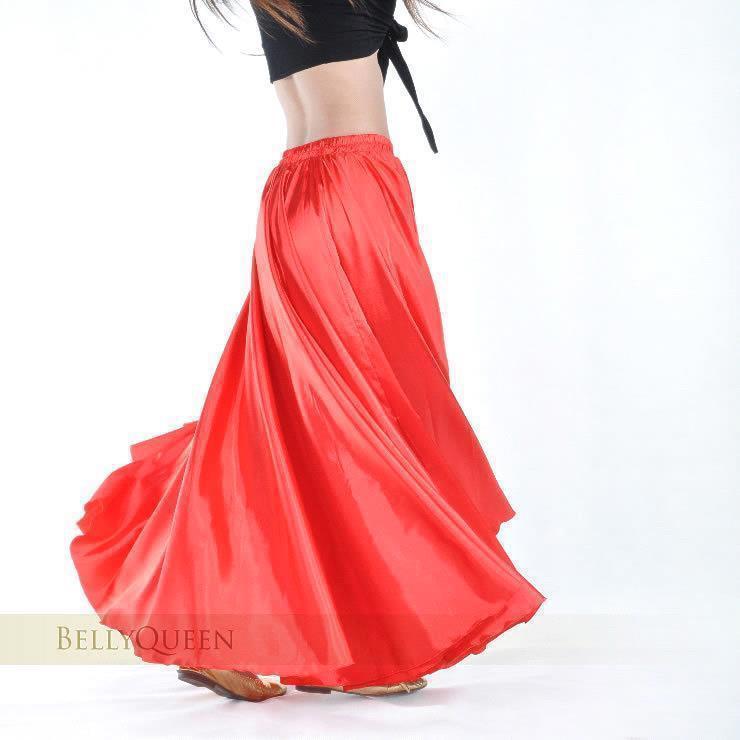 2018 Belly Dance Dress Skirt Solid Plain Color Satin Ball Gown Skirt ...