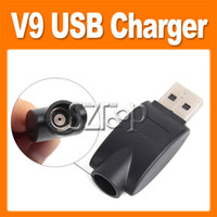 Wholesale E Cigarette V9 Batteries - V9 USB Charger Mini E Cigarette Battery Charger V9 USB Adapter for v9 series Electronic Cigarette (0205003)