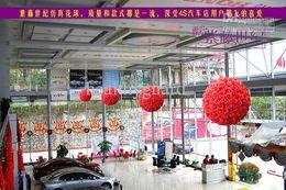 $enCountryForm.capitalKeyWord Australia - 40CM 15.8inch Artifical Silk Rose Flowers Balls Kissing Flower Ball Hanging Ball For Christmas Ornaments Wedding Party Decorations