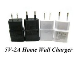 Wholesale Galaxy S3 Logo - US EU 5V 2A USB Home Wall Charger Travel Charger Power Adapter for Samsung Galaxy S3 S4 S5 i9600 i9500 N7100 Note 2 3 Htc Without Logo