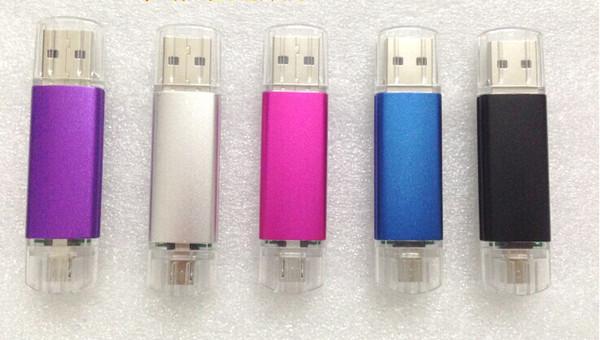 New 2019 Smart Phone USB Flash Drives pendrives OTG external storage micro 32GB 64GB 128GB 256GB usb 2.0 mini for 70pcs