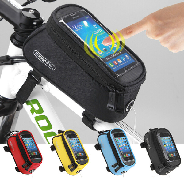 ROSWHEEL Cycling Bike Bicycle Frame Pannier Front Tube Bag for Cell Phone