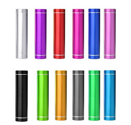 Wholesale Power Pack For Mobile - Smart Mobile Power Bank Charger - Hot Sale 2600mAh Portable External Cylinder Backup Battery Charger Pack powerbank for iPhone Samsung