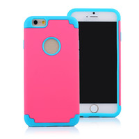 Wholesale Iphone Case Sillicon - iPhone 6 SE Cases 2 in 1 Sillicon Robot Case Dual Color Protective Cover for Cellphone 5.5 4.7 inch iPhone6 S6 Edge Plus Note 5 HTC M9