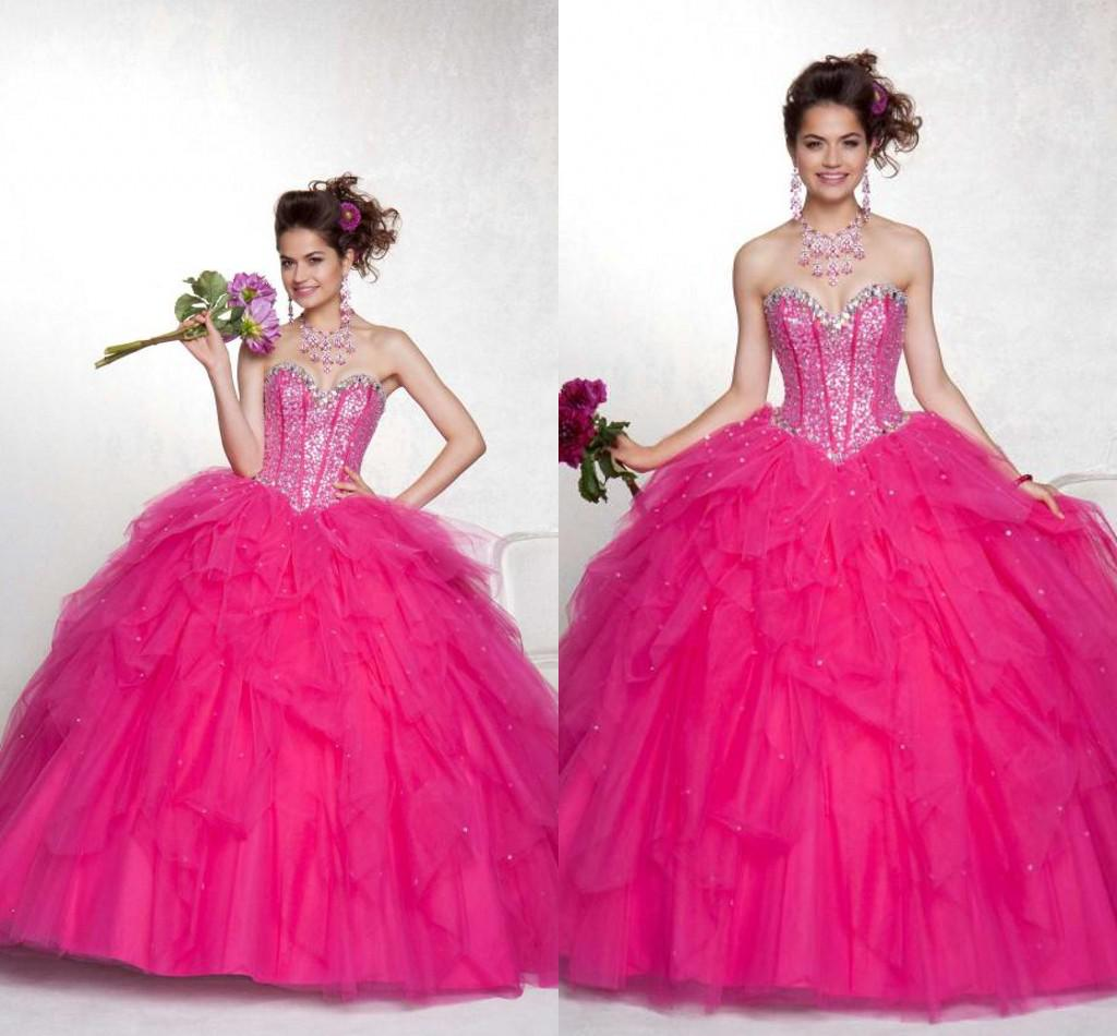 Cheap Price Shiny Crystal Sweet Girls Quinceanera Dresses