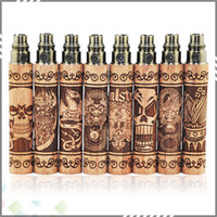 Wholesale Ecigarette Designed - Newest Design S Fire Battery Vapor Mod EGO Battery S Fire Wooden Ecigarette Vape Pens 650 900 1100mah E Cig Battery with 510 thread