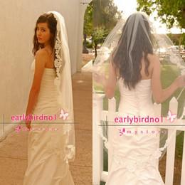 Wholesale Double Veils - Waltz Wedding Veil with Double Cut French Alencon Lace - Bridal Veil - Spanish Mantilla - Luxor