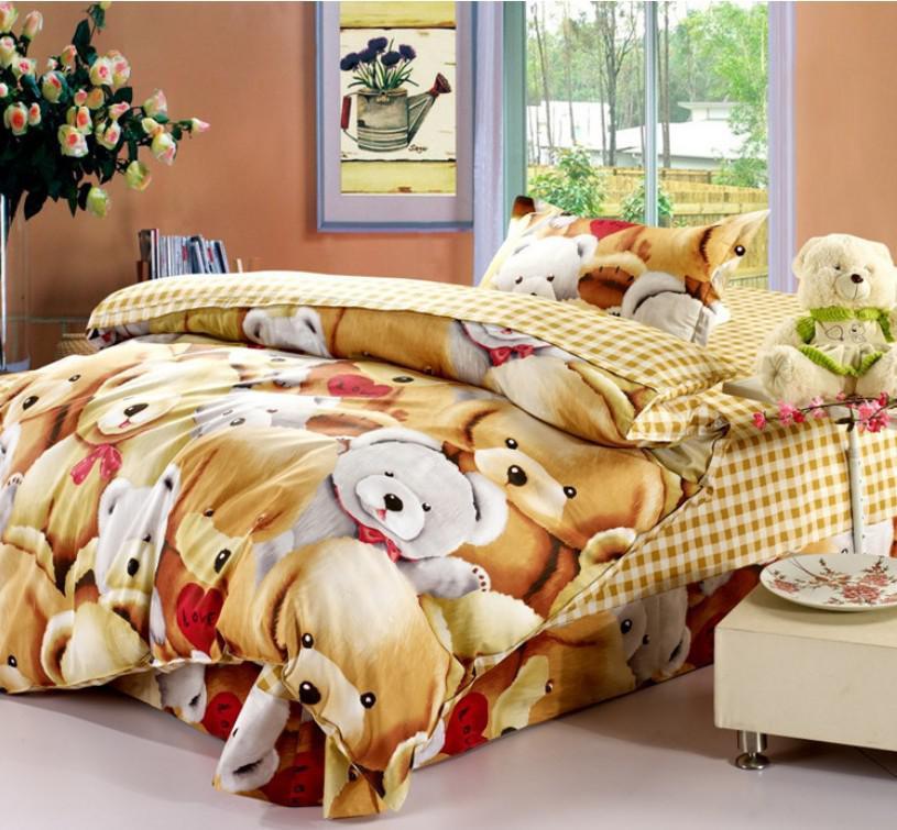 Lovely Teddy Bears Hug Kids Bedding Sets Children Comforter Cover Set Quilt  Cover Bed Sheet Pillowcase Set For Girl Or Boy California King Duvet Cover  ...
