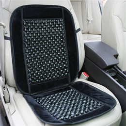 Wholesale Cushion Wooden Beads - Universal Wooden Bead Massage Massaging Car & Van Bead Seat Cover Cushion Black Free shipping order<$18no track