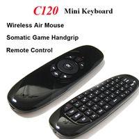 poignées pour ordinateur portable achat en gros de-2.4G sans fil Fly Gaming Air souris C120 clavier 3D Somatic poignée télécommande pour ordinateur portable Set-top-boxes Android TV