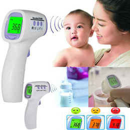 Wholesale Digital Infrared Termometer - NEW 2014 Baby Adult Digital Multi-Function Non-contact Infrared Forehead Body Thermometer Health Monitors Termometer Termometro