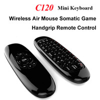 2.4G Fly Air Mouse C120 Mini teclado sem fio 3 Axis Gyroscope Somatic Game Handle para Andrid Smart TV Box Dongle Tablet PC
