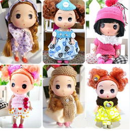 "Wholesale Ddung Doll Fashion - Wholesale-6pcs set 5"" inch Mini Ddung Ddgirl 12cm Dolls for Boys and Girls Gifts Free Shipping"