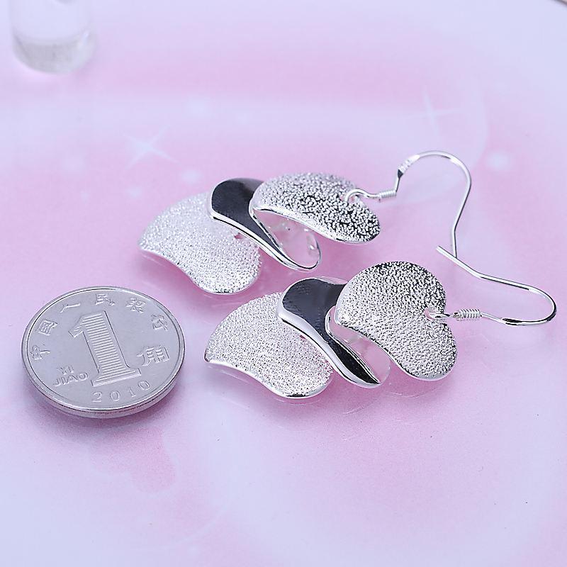 Потерять Деньги Акции! Оптовая продажа 925 серебряные колошения, 925 серебряные ювелирные изделия, блеск сердце колошение для женщин SMTE191