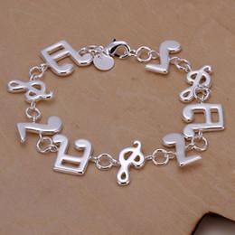Envío gratis 925 joyas de plata pulsera fina música de moda Pulsera de calidad superior al por mayor y al por menor 20 unids / lote desde fabricantes