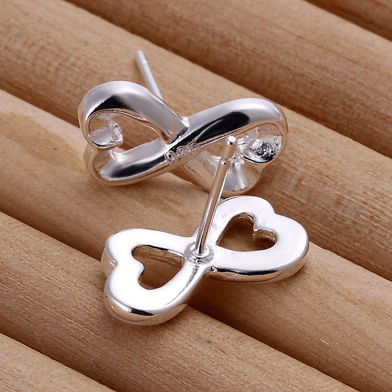 Pierde dinero Promociones! Venta al por mayor 925 pendientes de plata, 925 joyas de moda de plata, 8 formas earting para mujeres E049