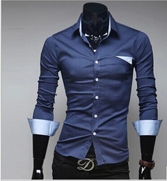 Wholesale Microfiber High Collar Shirts - Brand New Mens Shirts Casual Plaid Men's Dress Shirts Mens Slim Fit Unique Neckline Stylish Long Sleeve Shirts,High Quality