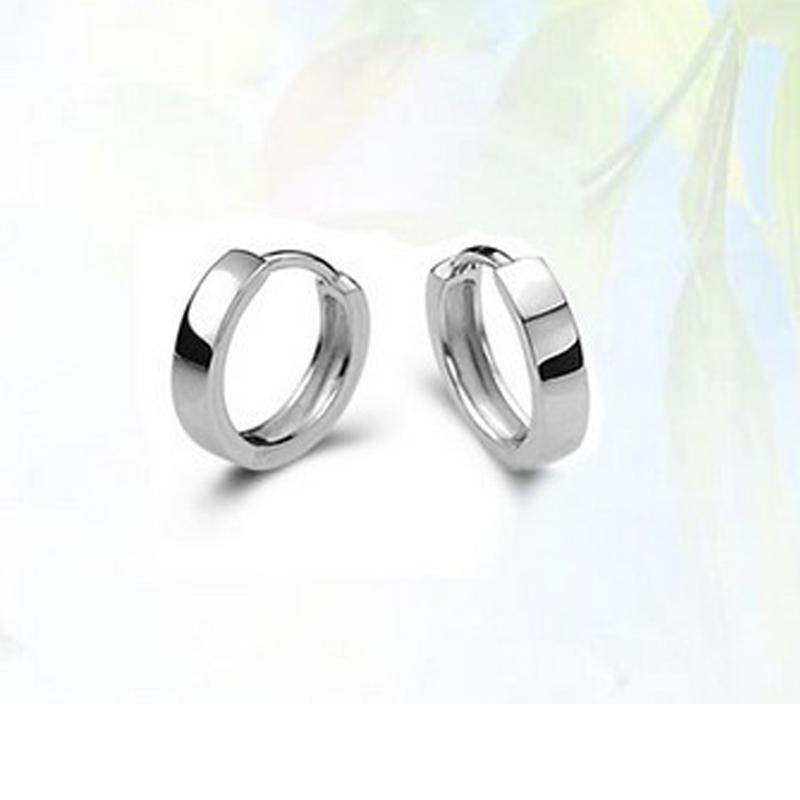 Womens Mens Boys Girls Stylish Chic Silver Plated Hoop Earrings ...