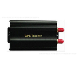Wholesale Alarm Anti Theft System - Vehicle Car GPS Tracker 103B with Remote Control GSM Alarm SD Card Slot Anti-theft car alarm system 5pcs lot free shipping