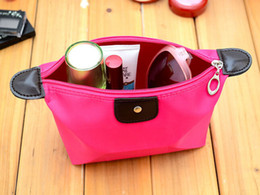 Wholesale Colorful Waterproof Nylon - Colorful Lady's cosmetic bag cosmetic case cosmetic box waterproof Women makeup bag Large capacity Free shipping,100pcs lot