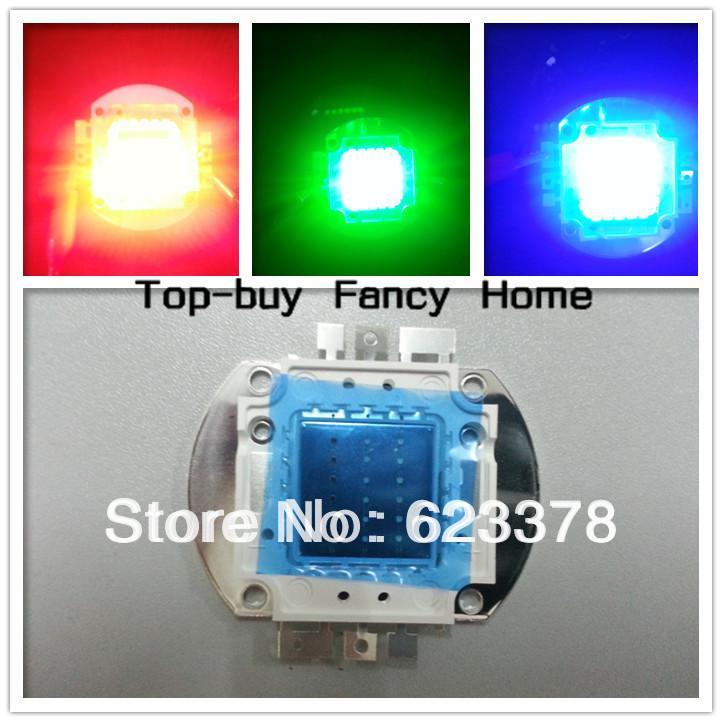 2 unids 20 W RGB de Alta Potencia LED Rojo Verde Azul luz Chip de 20 Watt LED Lámpara de grano Bombilla Envío Gratis seguimiento hd010