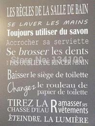 Zitate für Badezimmer der französischen Version wasserdicht Wandaufkleber Wohnkultur, Vinyl Kunst Aufkleber Aufkleber von Fabrikanten
